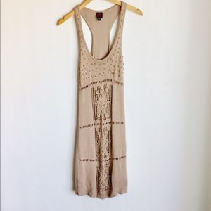2bBebe Knit Dress Size L Gold Metal Accents A